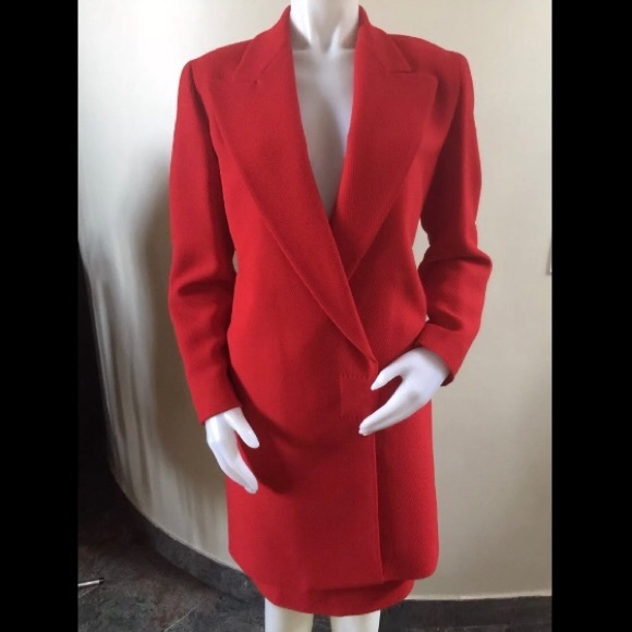 597fdc06 VINTAGE GIANNI VERSACE COUTURE Red Blazer